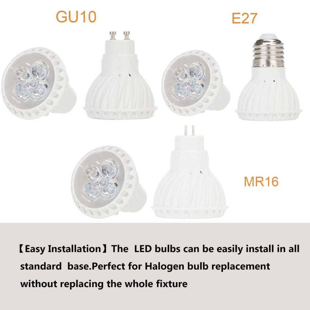 5W E27 GU10 GU5.3 2835 SMD LED Bulb Lamp 220V Home Light Dimmable Spotlight