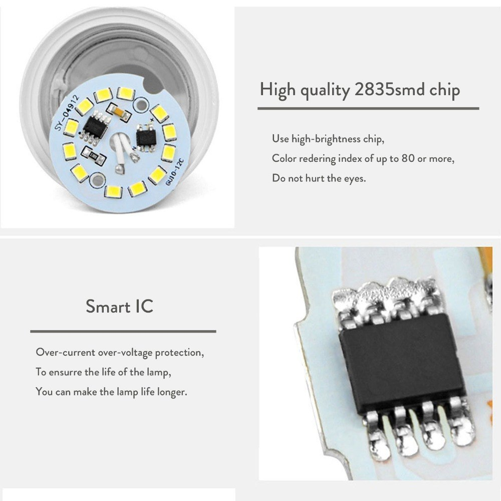 7W GU10 5730 SMD LED Bulb Lamp AC220V Home Light Aluminum No Dimmable Spotlight