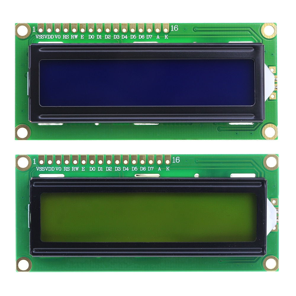 1602 16x2 LCD Display Screen Module 3V/5V Blue/Yellow-Green for Arduino