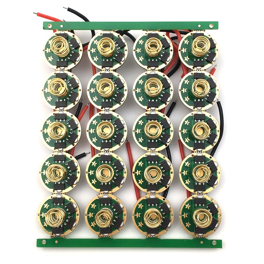 17mm LED Driver 7135 x 8 chip 4 Groups Modes 2.8A for XML XML2 T6 U2 U3 LED