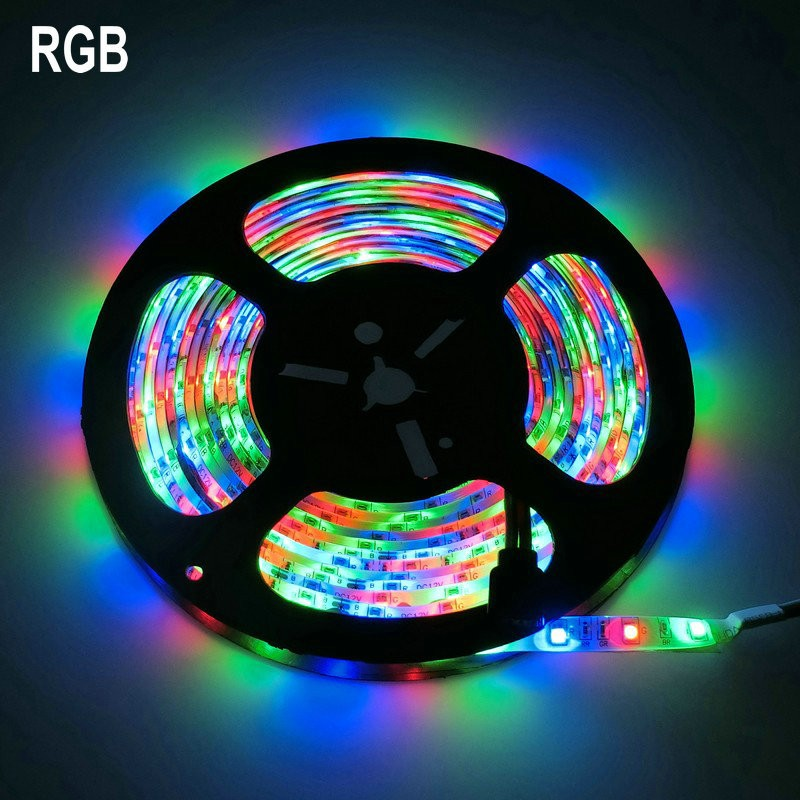 DC 12V 2835 SMD Flexible LED Strip 60LEDs/m RGB /White /Warm White /Blue /Green /Red /Yellow