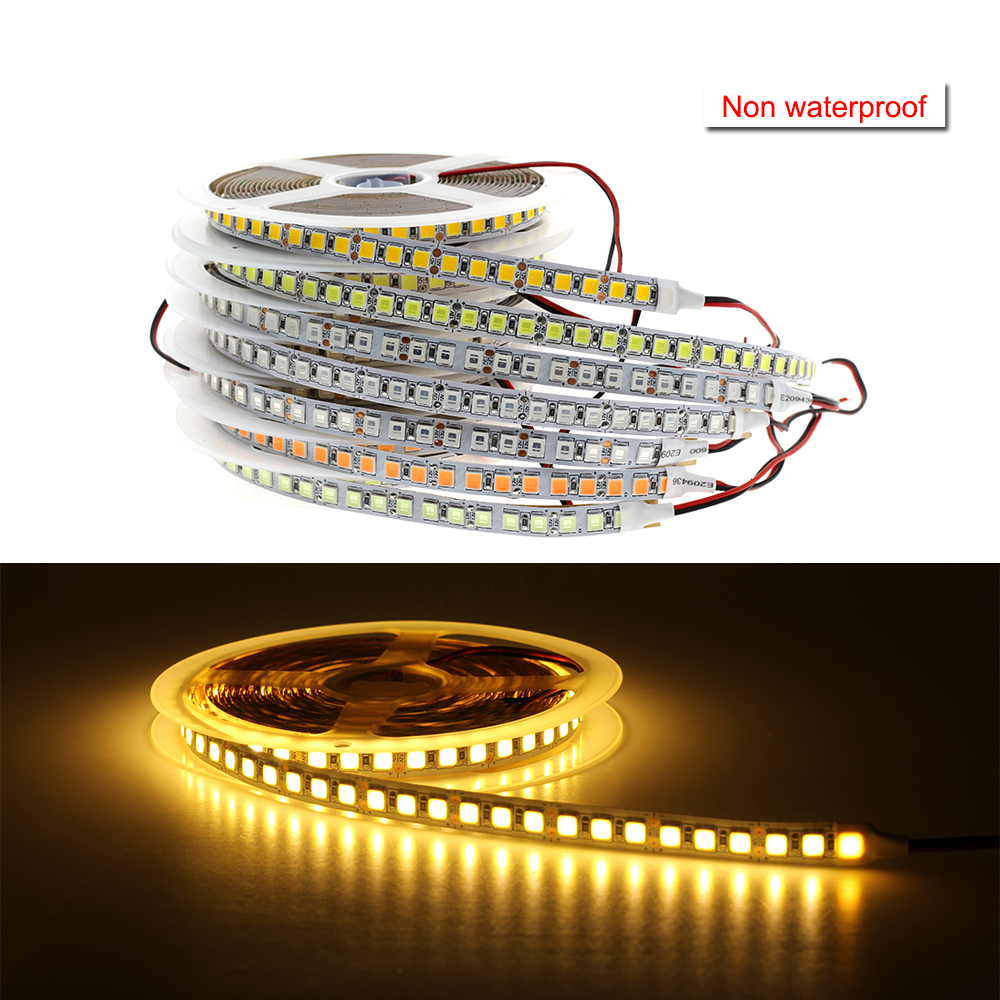 DC 12V 5054 SMD LED Flexible Strip 120LEDs/m Waterproof IP20/IP65/IP67 Emitting Warm White Cold White Ice Blue Pink