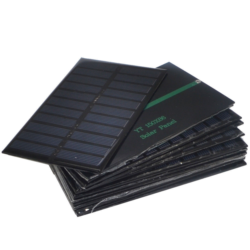 1.6W 5.5V Polysilicon Epoxy Solar Panel Cell Battery Charger