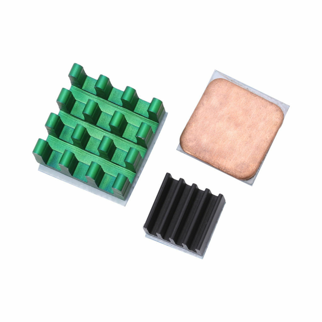 Aluminum Heat Sink w/ Copper 3Pcs Cooling Sinks for Raspberry Pi 3/2 Model B/B+