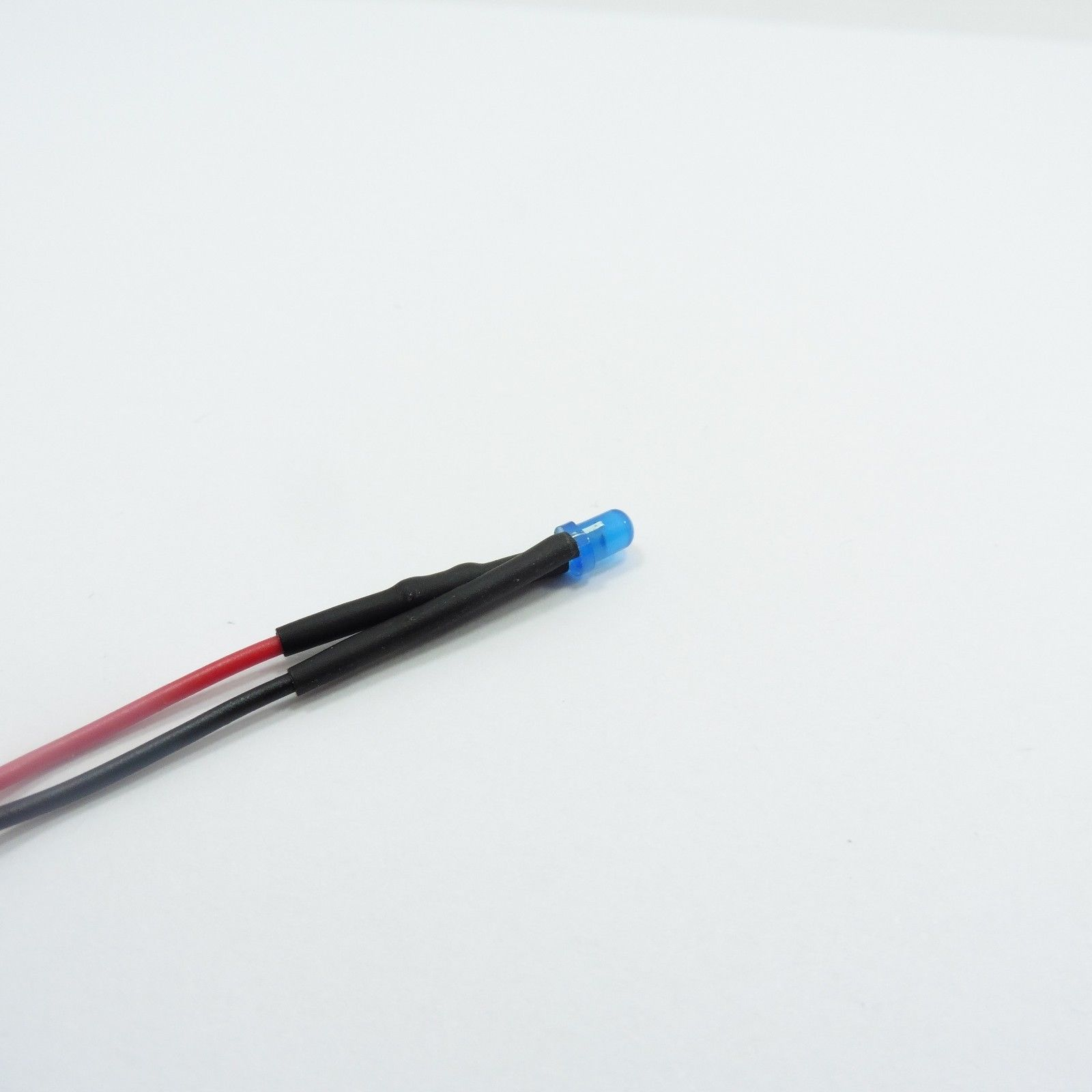 3mm F3 Pre-Wired LED Lens Colored Diffused