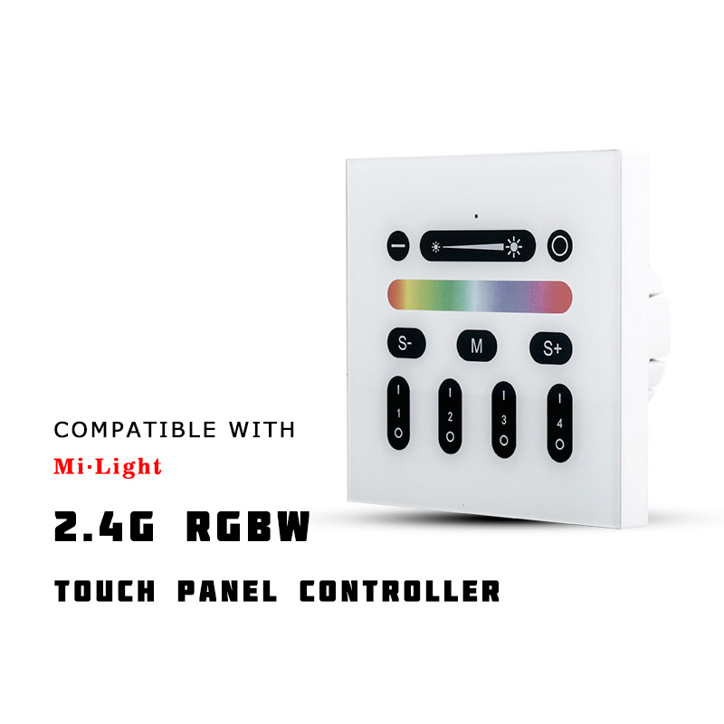 AC100~240V 2.4G RF RGBW Wall Mounted Smart Touch Panel Remote