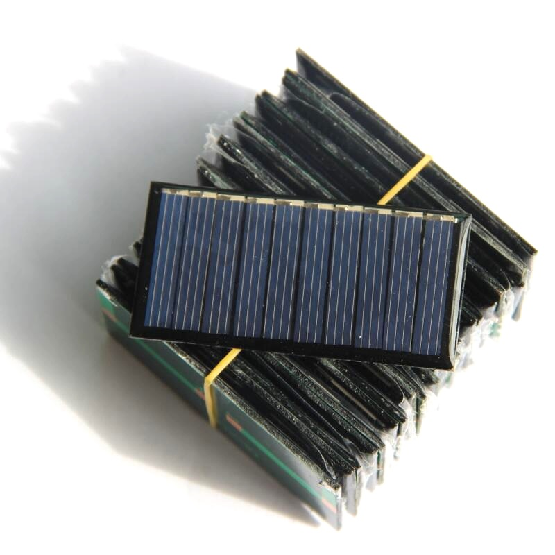 0.25W 5V Polysilicon Epoxy Solar Panel Cell Battery Charger