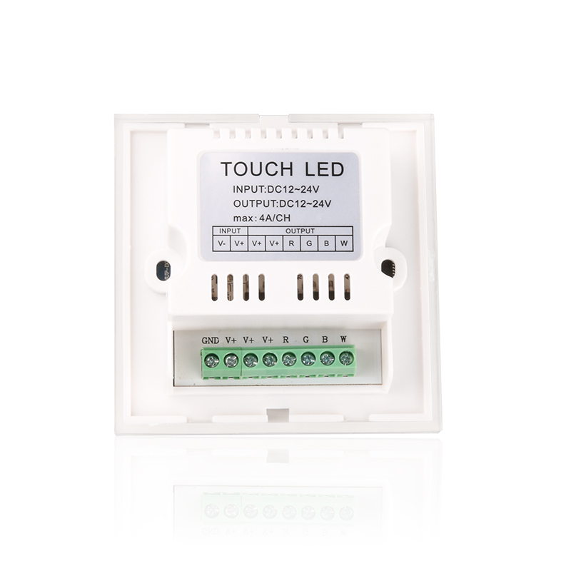 DC12-24V 4A/CH 4 Channels Full-Color Touch Panel RGBW Dimmable LED controller for Strip Light