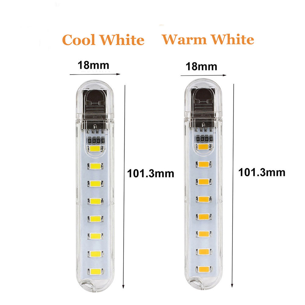 Mini 3LEDs 8LEDs USB 5V 5730 SMD LED Night light Camping Bulb for PC Laptops Notebook Reading Mobile Charger Light