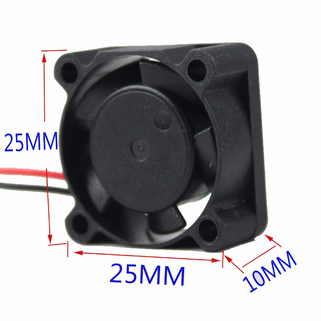 2510 Square Fan LED Heatsink DC12V