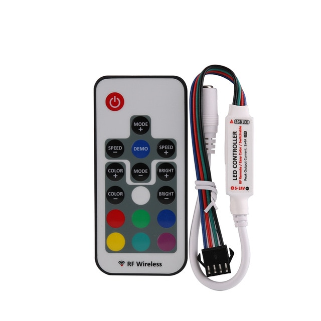 5-24V 4A*3CH RF Wireless RGB Mini Controller DC Female with Remote for LED Strip Light