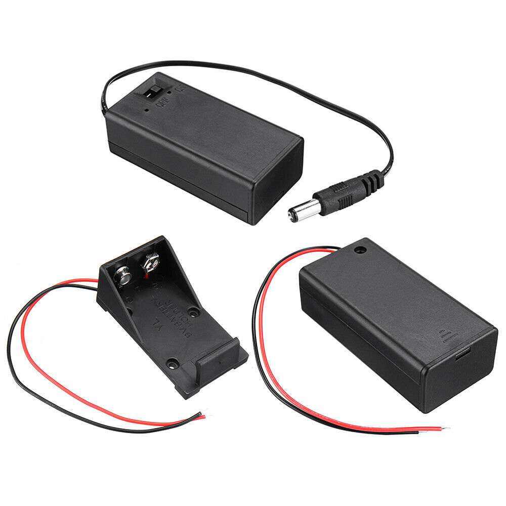 9V 6F22 Battery Charging Box Fully Sealed Battery Holder Case with Switch