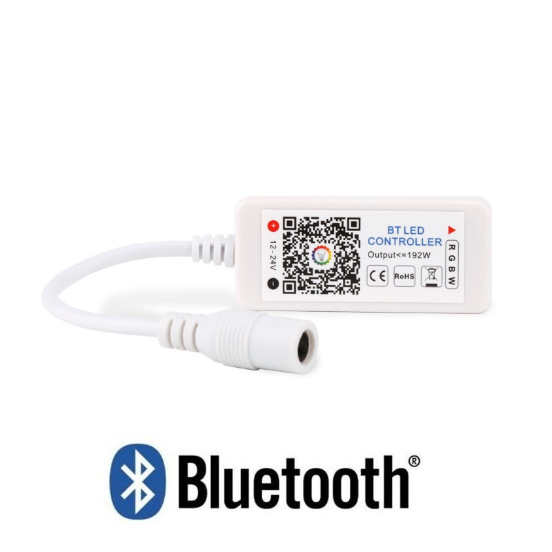Bluetooth Smart RGB/RGBW LED Strip Light Controller with Music Rhythm and Mic Control Timer Function