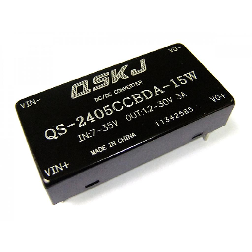 DC-DC Buck Converter 7-35V to 1.25-30V Step Down Power Module with Case QS-2405CCBDA-15W