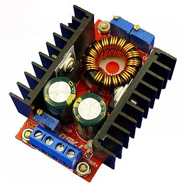 DC-DC Converter 10-32V to 12-35V Step Up Power Supply Module QS-1224CCBD-150W