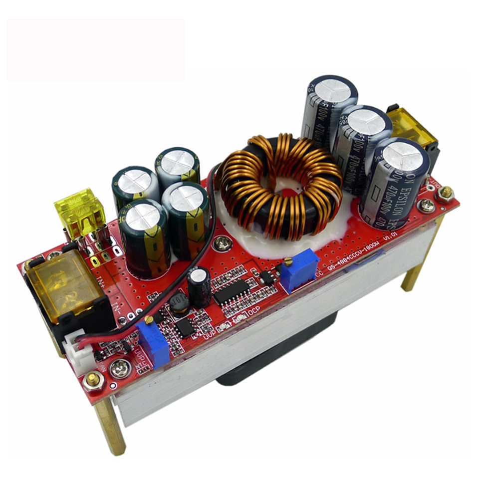 DC-DC Converter 1200W 20A CC CV Step Up Power Supply Module QS-4884CCCV-1200W