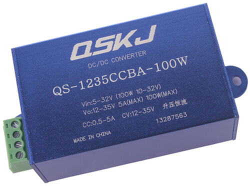 DC-DC Converter 5-32V to 12-35V CC CV Step Up Power Supply Module QS-1235CCBA-100W